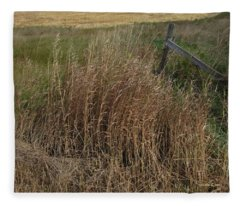 Old Fence Line Fleece Blanket