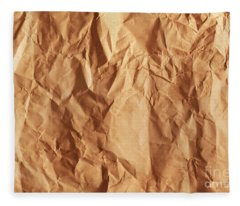 Old Grunge Creased Paper Texture. Retro Vintage Background Fleece Blanket