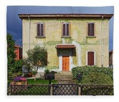 Old House In Crespi D'adda Fleece Blanket