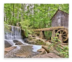 Old Lefler Grist Mill Fleece Blanket