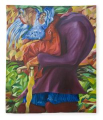 Old Man Collecting Sticks - But Not On The Sabbath Fleece Blanket