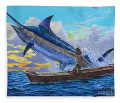 Old Man And The Sea Off00133 Fleece Blanket