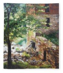 Old Mill Stream I Fleece Blanket