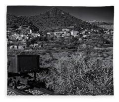 Old Mining Town No.23 Fleece Blanket