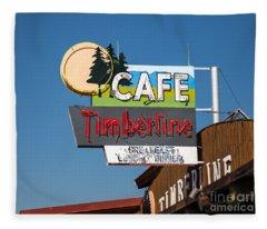 Old Neon Sign In West Yellowstone Fleece Blanket