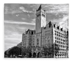 Old Post Office And Pennsylvania Avenue Fleece Blanket