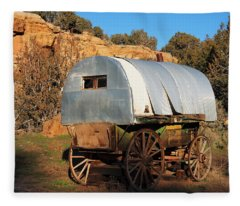 Old Sheepherder's Wagon Fleece Blanket