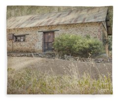 Old Stone Cottage Fleece Blanket