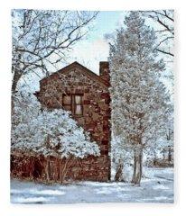 Old Stone House Fleece Blanket