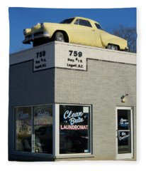 Old Studebaker Building Fleece Blanket