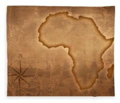 Old Style Africa Map Fleece Blanket