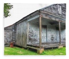 Old Theriot Post Office Fleece Blanket