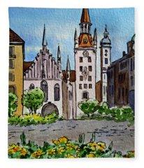 Old Town Hall Munich Germany Fleece Blanket