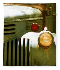 Old Truck Abstract Fleece Blanket