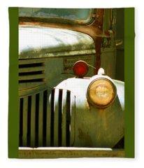 Old Truck Abstract Fleece Blanket