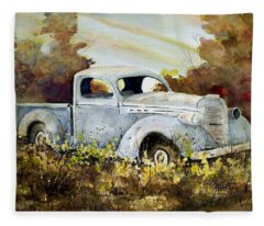 Old Truck Fleece Blanket