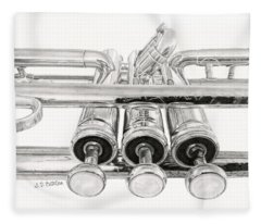 Old Trumpet Valves Fleece Blanket