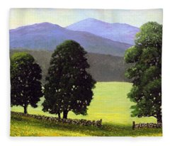 Old Wall Old Maples Fleece Blanket