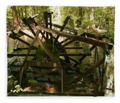 Old Waterwheel Fleece Blanket