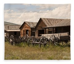 Old West Wyoming  Fleece Blanket