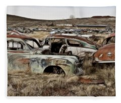 Old Wrecks Fleece Blanket