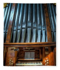 Olde Church Organ Fleece Blanket