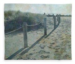 Olde Worlde Beach Fleece Blanket
