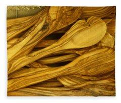 Olive Wood Fleece Blanket