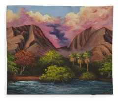Olowalu Valley Fleece Blanket