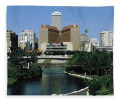 Omaha Ne Usa Fleece Blanket