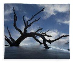 On A Misty Morning Fleece Blanket
