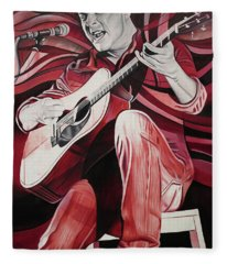 Dave Matthews-on Bended Knees Fleece Blanket