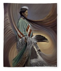 On Sacred Ground Series I Fleece Blanket