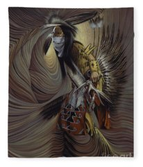 On Sacred Ground Series IIl Fleece Blanket