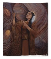 On Sacred Ground Series V Fleece Blanket