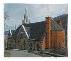 On The Hill - St. Peter's Roman Catholic Church Fleece Blanket