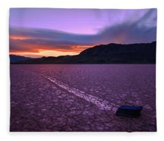 Death Valley Photographs Fleece Blankets