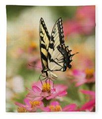 On The Top - Swallowtail Butterfly Fleece Blanket
