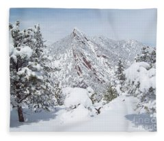 On Top Of Bear Peak Snow Mountain  Fleece Blanket