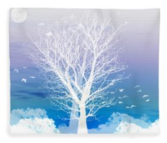 Moon Fleece Blankets