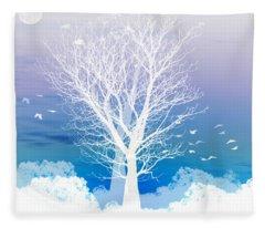 Moon Fleece Blankets