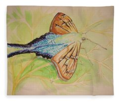 One Day In A Long-tailed Skipper Moth's Life Fleece Blanket
