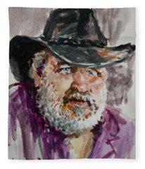 One Eyed Cowboy  Fleece Blanket
