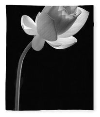 One Lotus Bud Fleece Blanket