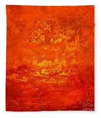 One Night In Old Shanghai By Rjfxx.-original Minimalist Abstract Art Painting Fleece Blanket