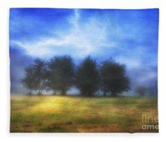 One September Morning Fleece Blanket