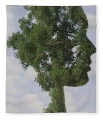 One With Nature Fleece Blanket