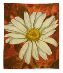 One Yorktown Daisy Fleece Blanket