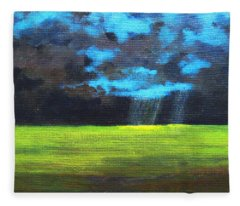 Open Field IIi Fleece Blanket