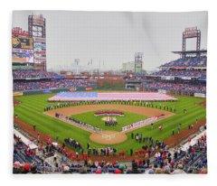 Opening Day Ceremonies Featuring Fleece Blanket